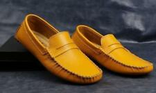 Fashion Mens Casual Moccasin-gommino Slip on Driving Loafer Leather Casual Shoes
