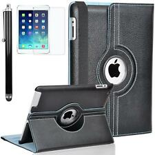 Zeox iPad Air 2 Case 360 Rotating PU Leather Stand Smart Auto Wake Sleep Cover