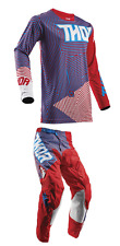NEW 2018 THOR MX PULSE GEOTEC PANT JERSEY GEAR COMBO RED/BLUE + FREE NAME