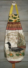 Common Loons Adult & Chicks Lily Pads Plastic Grocery Bag Rag Sock Holder HCF&D
