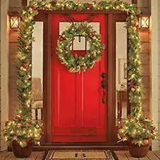 Christmas Wreath Lighted LED Garland, Urn Filler Real Pinecones Fireproof NEW