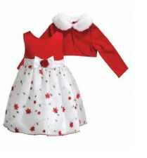 Youngland Baby Girl Floral Dress Cardigan Set Red White Multi size 18M NEW