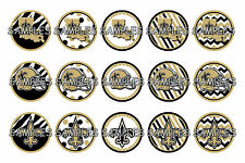 "NFL New Orleans Saints PRE CUTS or DIGITAL SHEET 1"" Circle Bottle Caps"