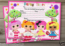 1-10 PERSONALISED LALALOOPSY INSPIRED INVITATIONS THANK YOU OR BIRTHDAY CARDS