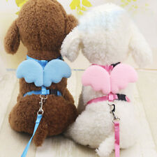 Handy Pet Dog Cat Leashes Collars Set Puppy Leads Angel Wing Adjustable Harness