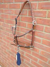 **New Bargain Padded Leather Headcollar with OR without Lead Rope Black Brown**