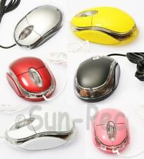 USB Wired Optical Light Scroll Wheel Mouse Computer PC Laptop Mice 6 clrs option