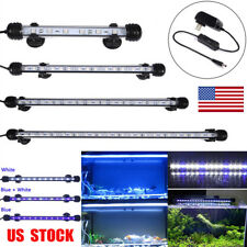US Plug Aquarium Fish Tank LED Light IP68 Submersible Day Night Light 18-48CM