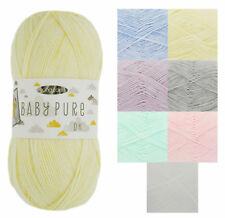 Baby Pure DK 100g Balls Acrylic Double Knitting Wool Soft Pastel King Cole Yarn