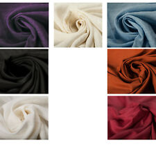 Premium Quality 100% Linen Plain Fabric Upholstery Crafts Interior Clothing