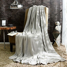 Gray Gris Soft Light Blanket available in Throw Blanket, full and Queen/King