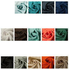 100% Cotton Linen Quality Fabric Dress Material Plain Upholstery Fashion Craft