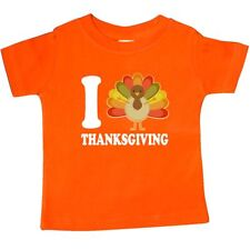 Inktastic Thanksgiving Holiday Turkey Cute Baby T-Shirt I Love Heart Colorful