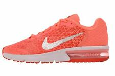Nike Air Max Sequent 2 GS Kids Youth Womens Running Shoes Lava Glow 869994-600