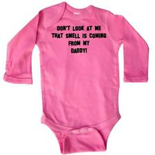 Inktastic Don't Look At Me That Smell Is C Long Sleeve Creeper Daddy Funny Baby