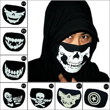 Korean Mens Scary Realistic Skeleton Dust-proof Cotton Fluorescent Mask