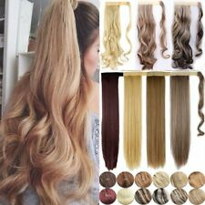 US Lady 1Pcs Real Thick Clip In Ponytail Hair Extension Wrap Around Pony tail nm