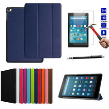 Stand Folio Folding Leather Cover Case + Screen Protector For Kindle fire 7 2015