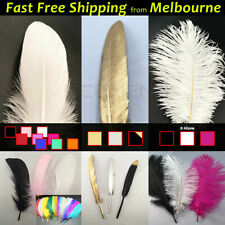 White Gold Black Goose Ostrich Feathers Vegas Costume Wedding Party Decorations