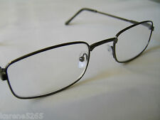 GENTS/MENS/UNISEX METAL FRAMED FASHION READING GLASSES  blk