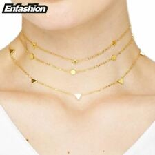 Enfashion Geometric Triangle Circle Star Choker Necklace Gold color Necklaces Pe