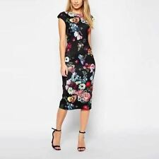 New Fashion Summer Women Dresses Elegant Floral Printed Dress Lady Temperament C