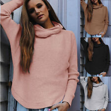 Fashion Womens Ladies Long Sleeve Baggy Top Blouse Knit Knitted Sweater Jumper