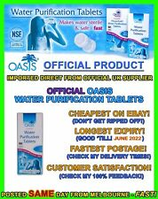 Oasis water purification treatment tablets cheapest tabs travel hiking camping