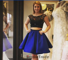 New Two Pieces Homecoming Dresses Short Evening Cocktail Party Bridesmaids Gown