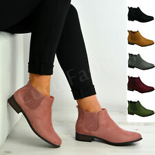 Brand New Womens Ladies Chelsea Ankle Boots Faux Suede Casual Shoes Size Uk 3-8