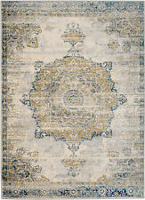 NEW (#410) MODERN NEW BLUE MEDALLION - AREA RUG, APRX SIZES: 2X3, 2X7, 4X5 & 5X7