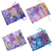 25/50/100 Sheer Coralline Organza Jewelry Pouch Party Favor Gift Bags Frugal