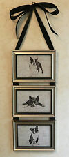 Boston Terrier Dog Picture Collage Frame Wall Hanging Art Decor