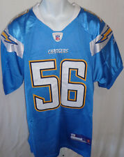 San Diego Chargers Shawne Merriman Replica Sewn Football Jersey Blue #56
