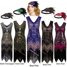 1920s Vintage Flapper Dress Charleston Gatsby Party Prom Evening Beaded Costume