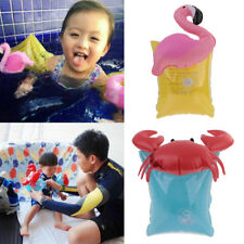 2pcs Inflatable Swimming Arm Rings Bands Safety Float Air Sleeves Flamingo/Crab