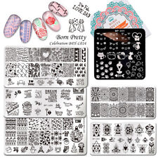 Nail Stamping Plates Manicure Nail Art Image Stamp Stencil Template BORN PRETTY