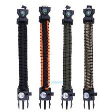 1Pcs Emergency Survival Paracord Tactical Bracelet with LED Lamp Outdoor Tool