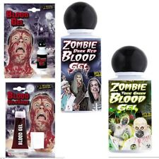 Halloween Horror FX Make Up Blood Gels Red Green Zombie Toxic Party Prop