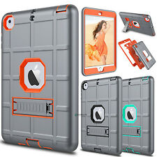 For Apple iPad mini 1 2 3 Shockproof Hybrid Case Cover With Kickstand Hard Soft