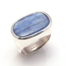 Natural kyanite Solid Sterling 925 Silver  Handmade Ring size US 8.5