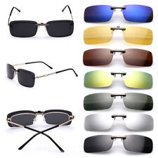 Polarized Clip On Sunglasses Driving Glasses Day Night Vision UV400 Men Women ui