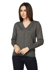 New Women's Basic V-Neck Button Down Long Sleeve Knit Cardigan Fall Sweater