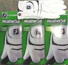 THREE (3) NEW FootJoy WeatherSof Golf Gloves, PICK SIZE, #1 Glove in Golf, WHITE