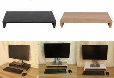 Wooden Monitor Stand PC LCD Computer Monitor Desktop Organizer Display 2 COLOURS