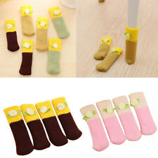 4 Pcs Knit Home Floor Protector Leg Sleeve Table Chair Foot Cover Socks Frugal