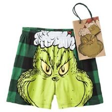 The Grinch Who Stole Christmas Mens Boxers with Gift Bag Size Sm 28-30 NWT