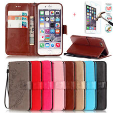 Flip Wallet Fold Leather Case Cover + Screen Protector For Apple iPhone 6S 4.7
