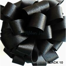 Berisfords Black #10 Double Sided Satin Ribbon 9 Widths