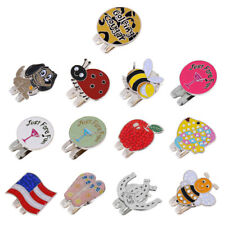 Lightweight Alloy Golf Ball Marker with Magnetic Hat Clip Assorted Patterns